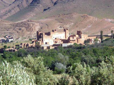 vista da lontano città di kasbah marocco