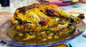 piatto con pollo arrosto marocchino