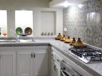 piano cucina nel riad el arco a marrakech
